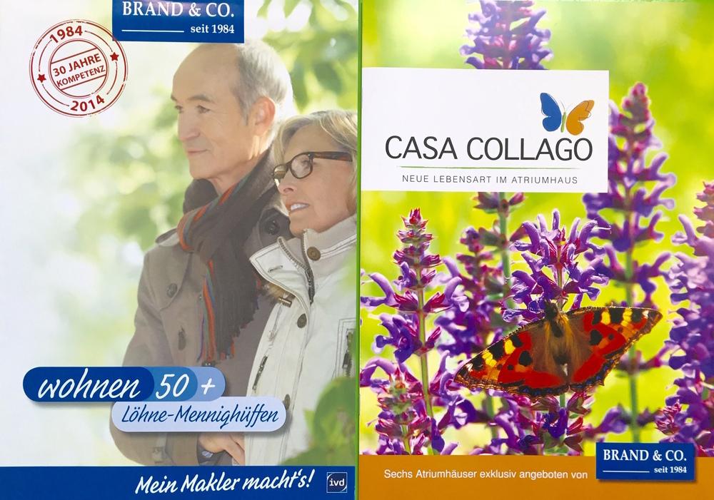 Aus Wohnen 50+ wird Casa Collago – Aus Wohnungen werden Atriumhäuser. Aus Senioren eine mediterrane Lebenswelt. Das wird auch im neuen Exposé mehr als sichtbar.