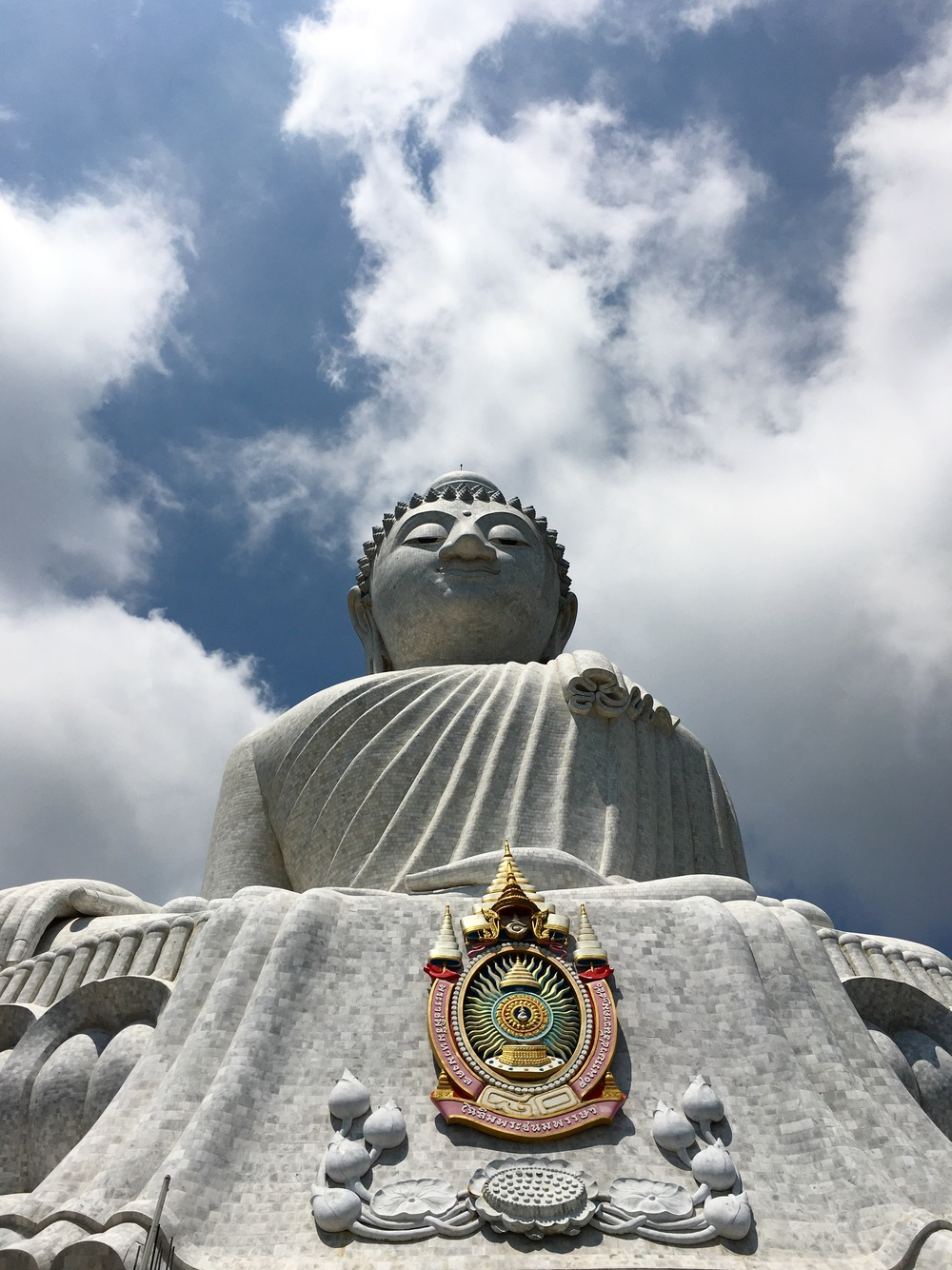 The Big Buddha that can be seen atop a mountain throughout the southern part of Phuket, Thailand.