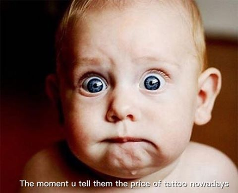 The moment u told ur clients tattoo prices nowadays... #shocked