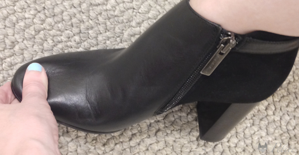 Aquatalia 'Verona' Weatherproof Bootie in Black Calf, size 5. ( here )