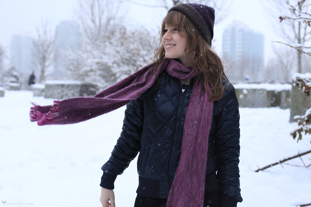 Fox Petite - Winterbourne Alpaca Hat and Scarf with TNA League Jacket from Aritzia