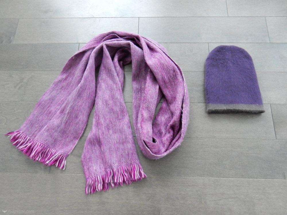 Fox Petite - Winterbourne Alpaca Scarf and Hat close up