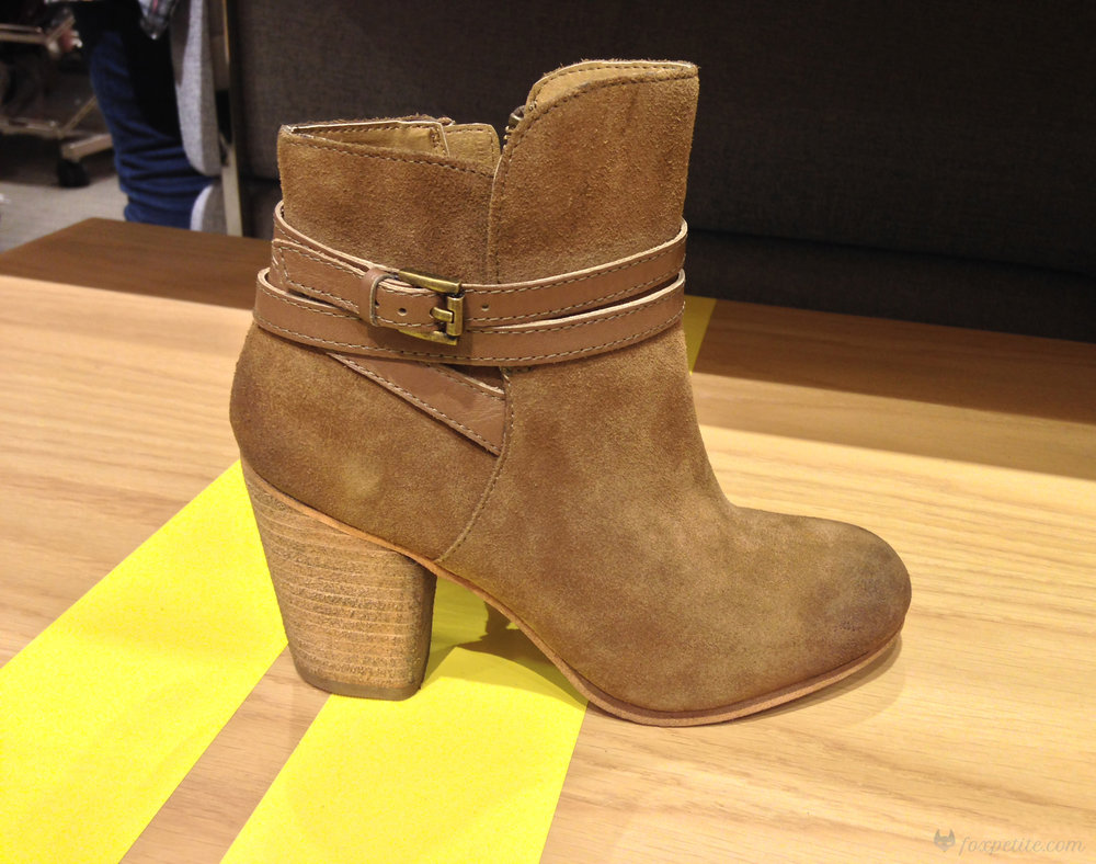 BP 'Tandem' Bootie in Khaki Suede, size 4.5.  (here)