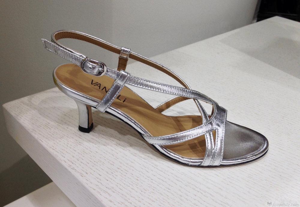 Vaneli 'Merila' Slingback Sandal in Silver, size 4. ( here )