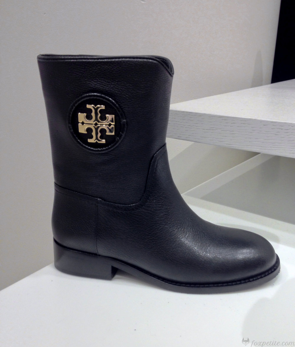 Tory Burch 'Hallie' Midshaft Boot in Black Leather, size 4.  (here)  (check in stores for more size availability)