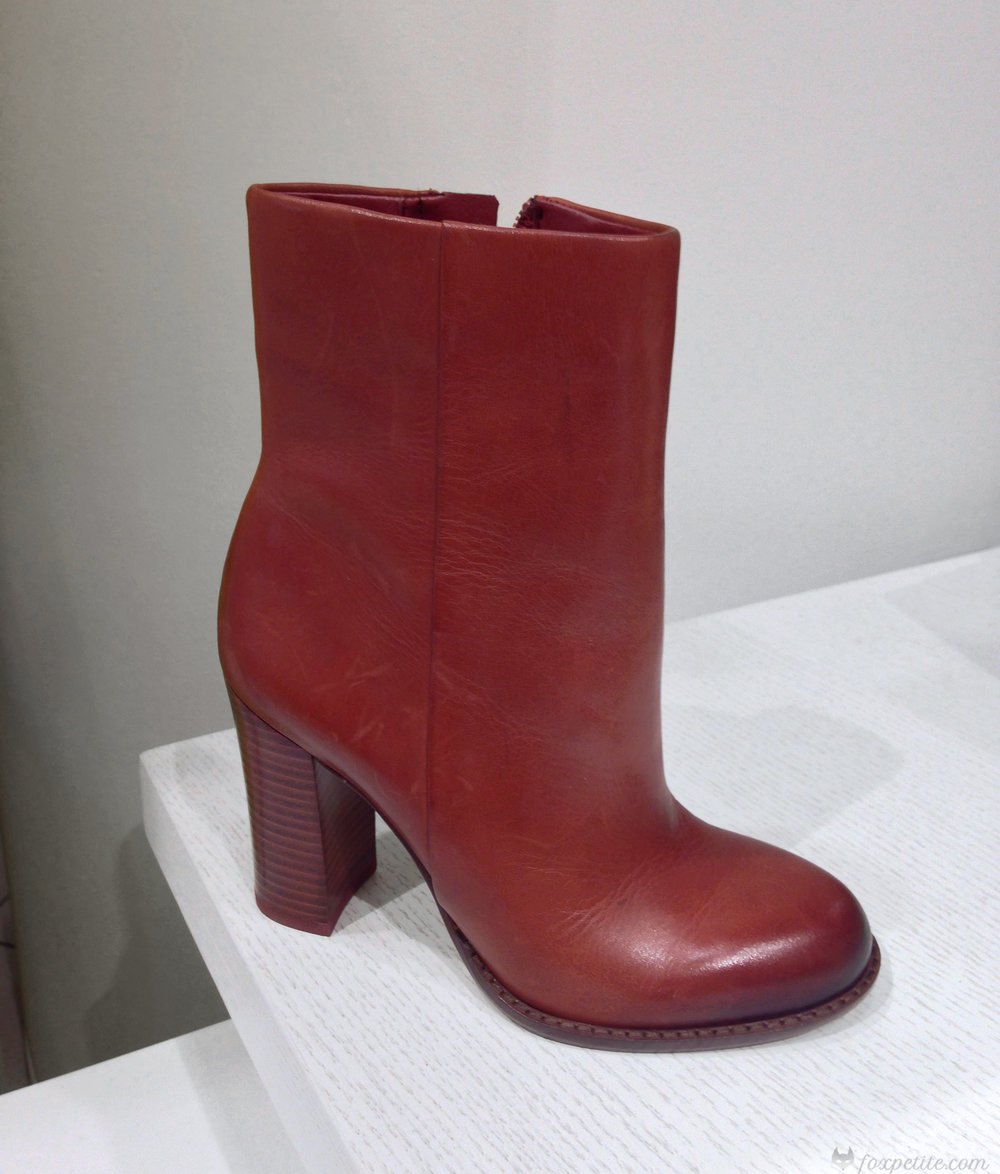 Sam Edelman 'Reyes' Bootie in Rust Red Leather, size 4.  ( here )