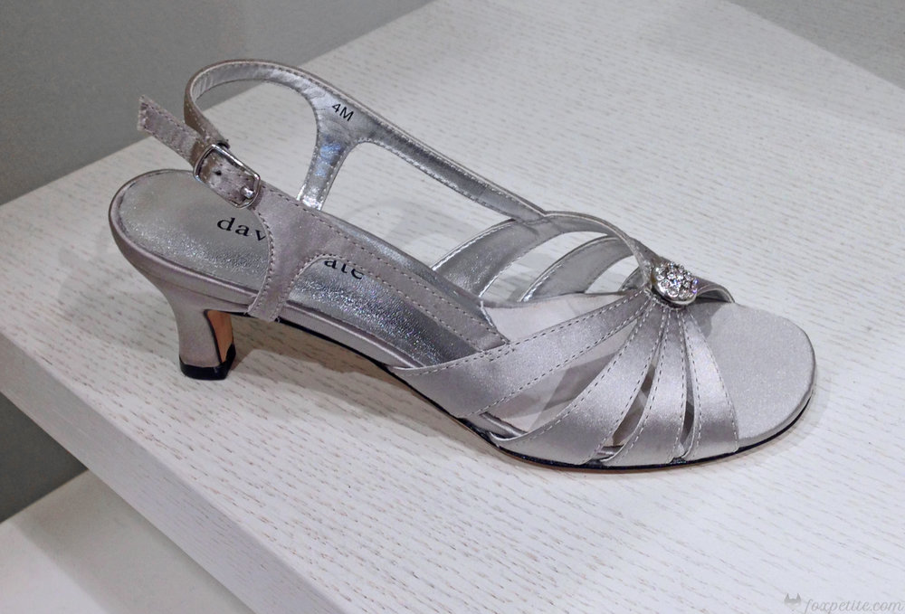 "David Tate 'Rosette"" Sandal in Silver, size 4 ( here ) . Black and navy available online."