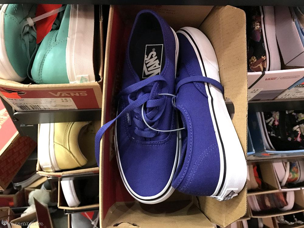 Fox Petite - Vans Purple Shoes