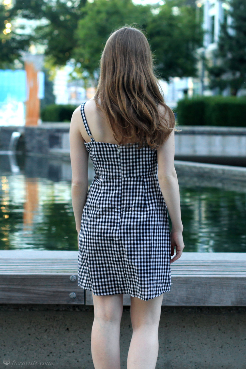 Brandy Melville Karla Dress (now available in  red plaid ,  blue and white stripes ,  black , or  white )