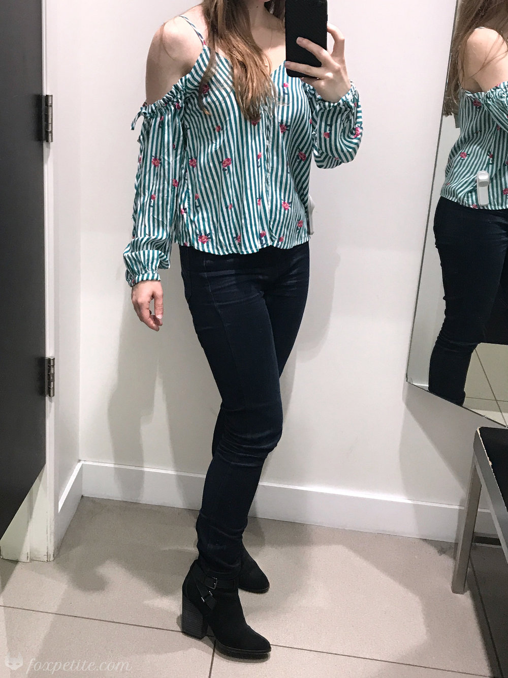 Striped  Off The Shoulder Blouse  in size 2