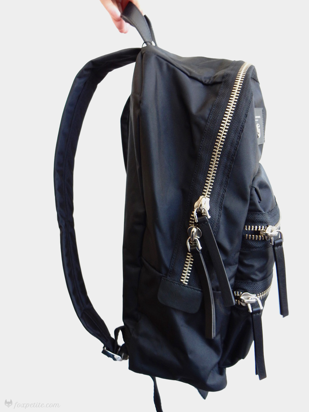 Marc Jacobs  Biker Nylon  Backpack in black and silver