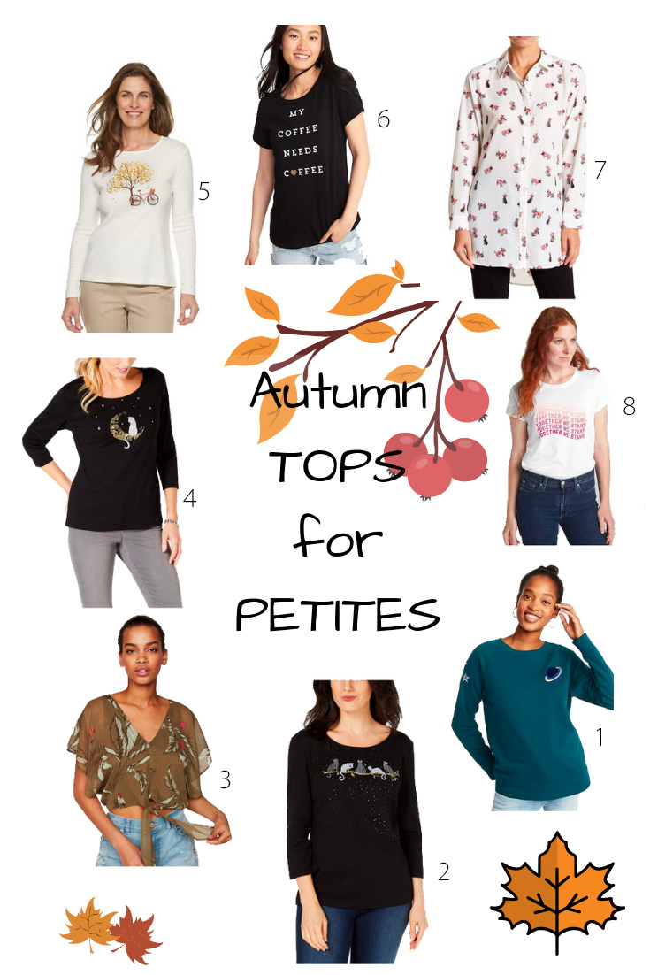 Autumn tops for petites | fashion picks for petite women by blogger Fox Petite | 2018 fall petite style