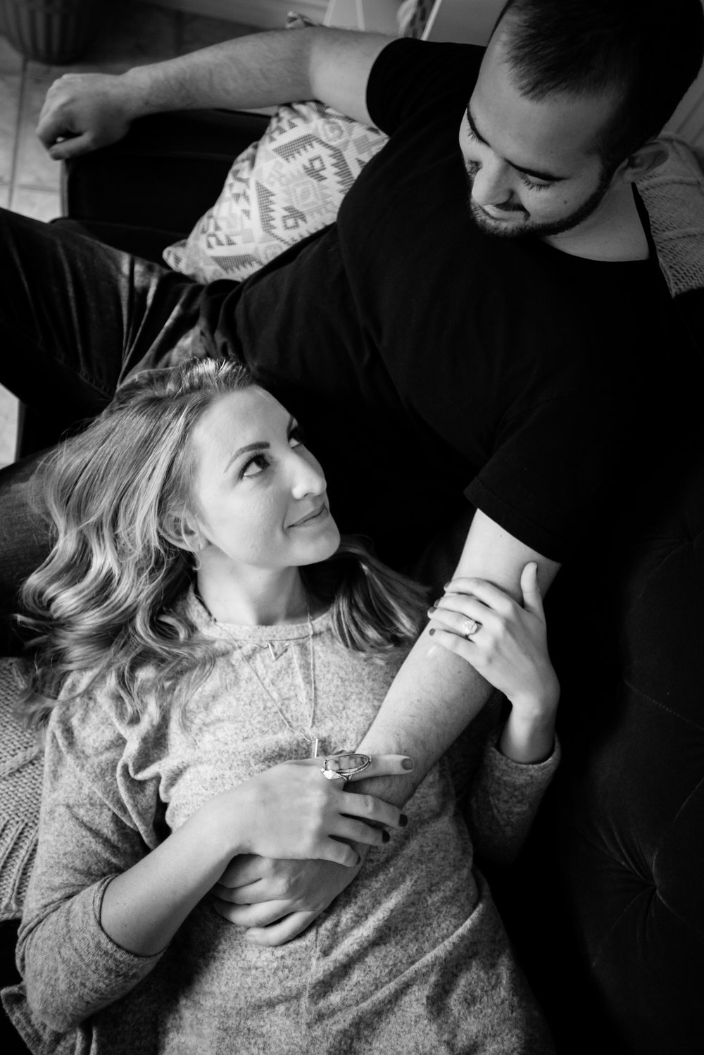 Bentonville, Arkansas In Home Engagement Session- Lifestyle Photography