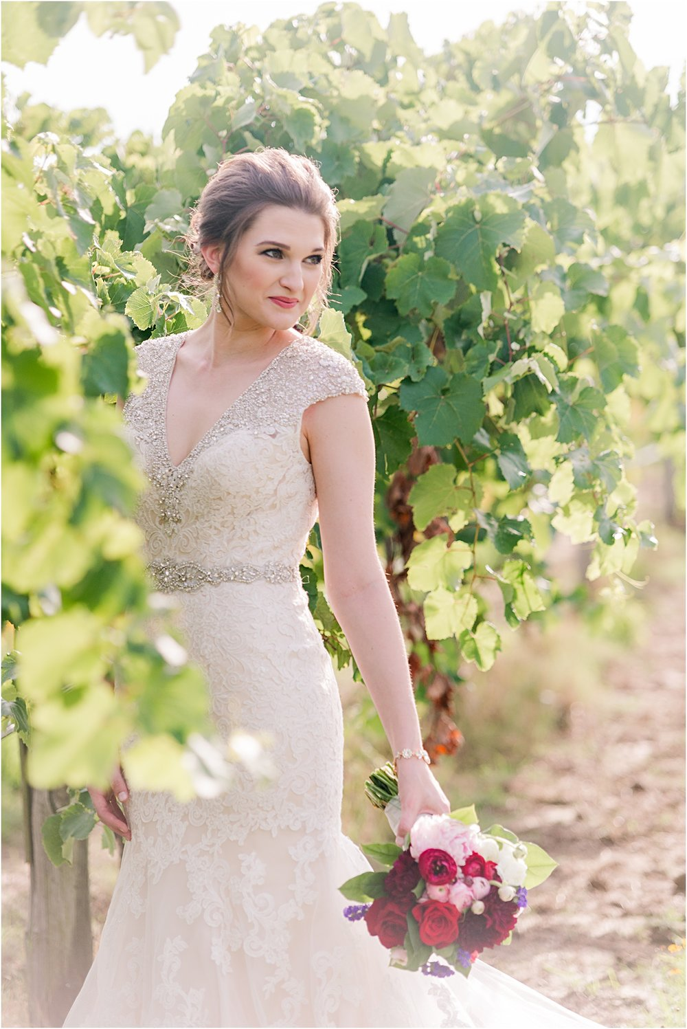 vineyard bride in Northwest Arkansas