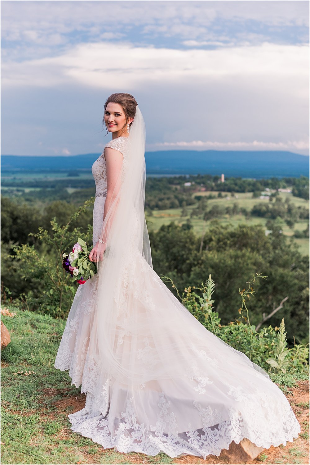 Arkansas bride mountain top photos