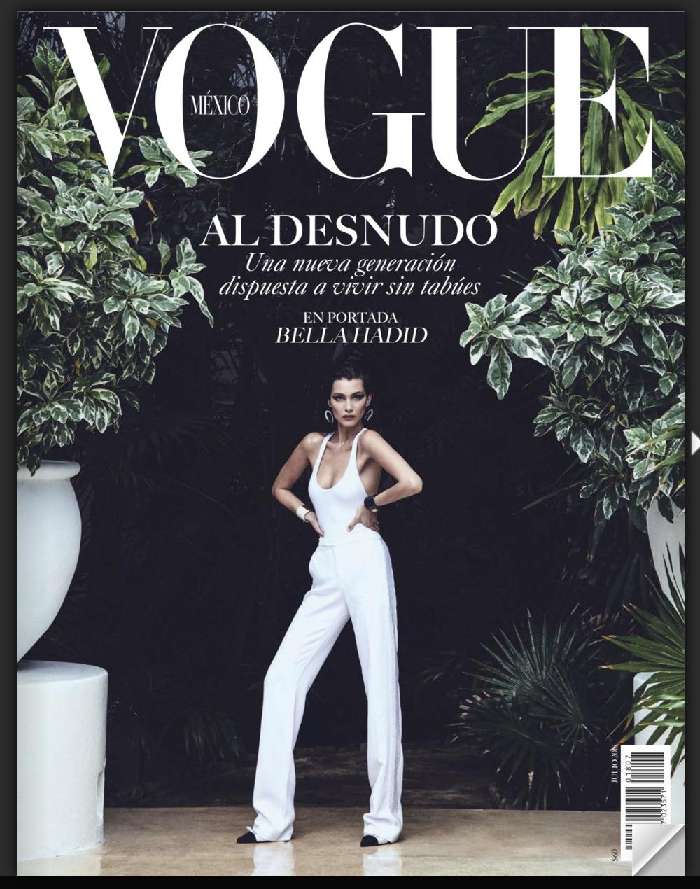 Profile, Vogue México, July 2018.  -