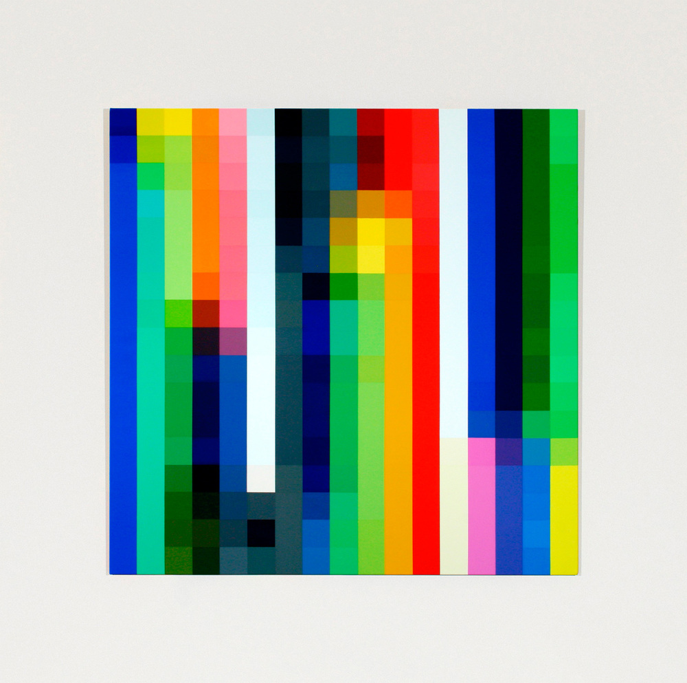 Spectrum Shift #5A  From the series  Text of Light,  2004 - 2005 Synthetic polymer paint on linen, 122 x 122cm
