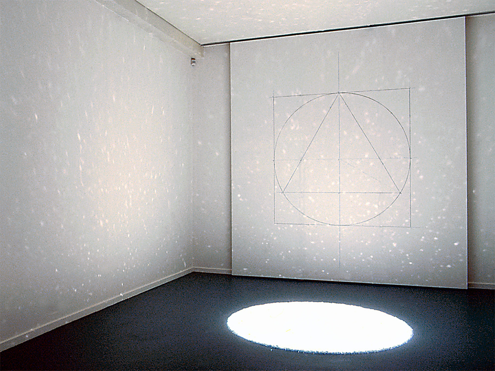 Seraphic Glitter,  2000 Glass and light, 200cm dia approx Exhibition:  Art & Kabbalah, Contemporary Responses to an Ancient Tradition  The Jewish Museum of Australia