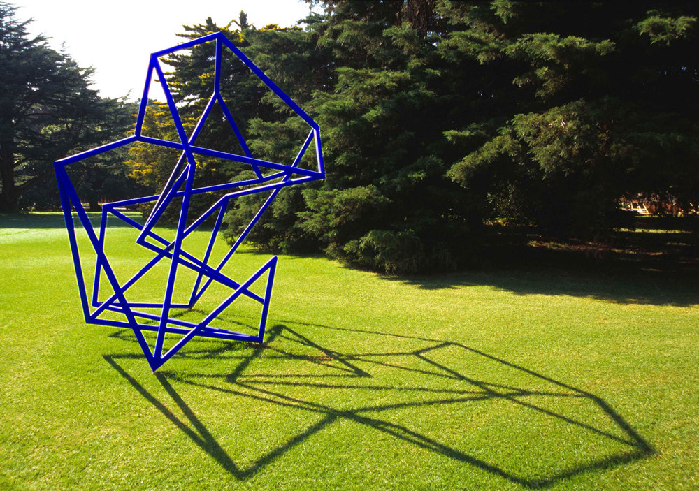 Double Vision #1 (Between shadow and light),  2001 Painted galvanised steel, 400 x 300 x 270cm Private Collection Photography: John Gollings