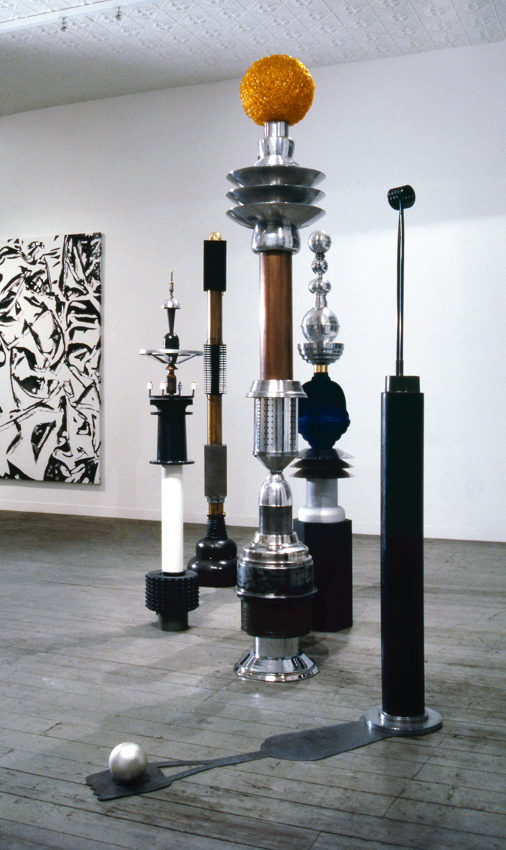 Persephone's Towers,  1985-87 mixed materials