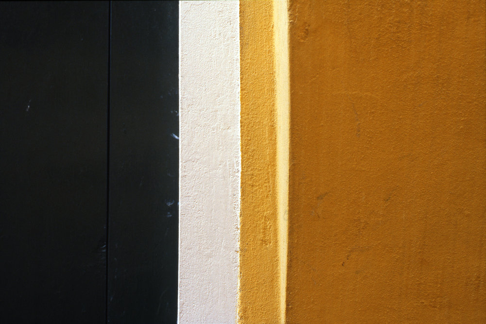 Yellow Wall and Green Shutter, Burano Italy, 1978 , Cibachrome Print, 16 x 24cm, Edition of 10.                            Exhibition:  Burano Colour Works , Australian Centre for Photography, Sydney; Solander Gallery, Canberra; Wagga Wagga City Art Gallery, Wagga Wagga, 1979.