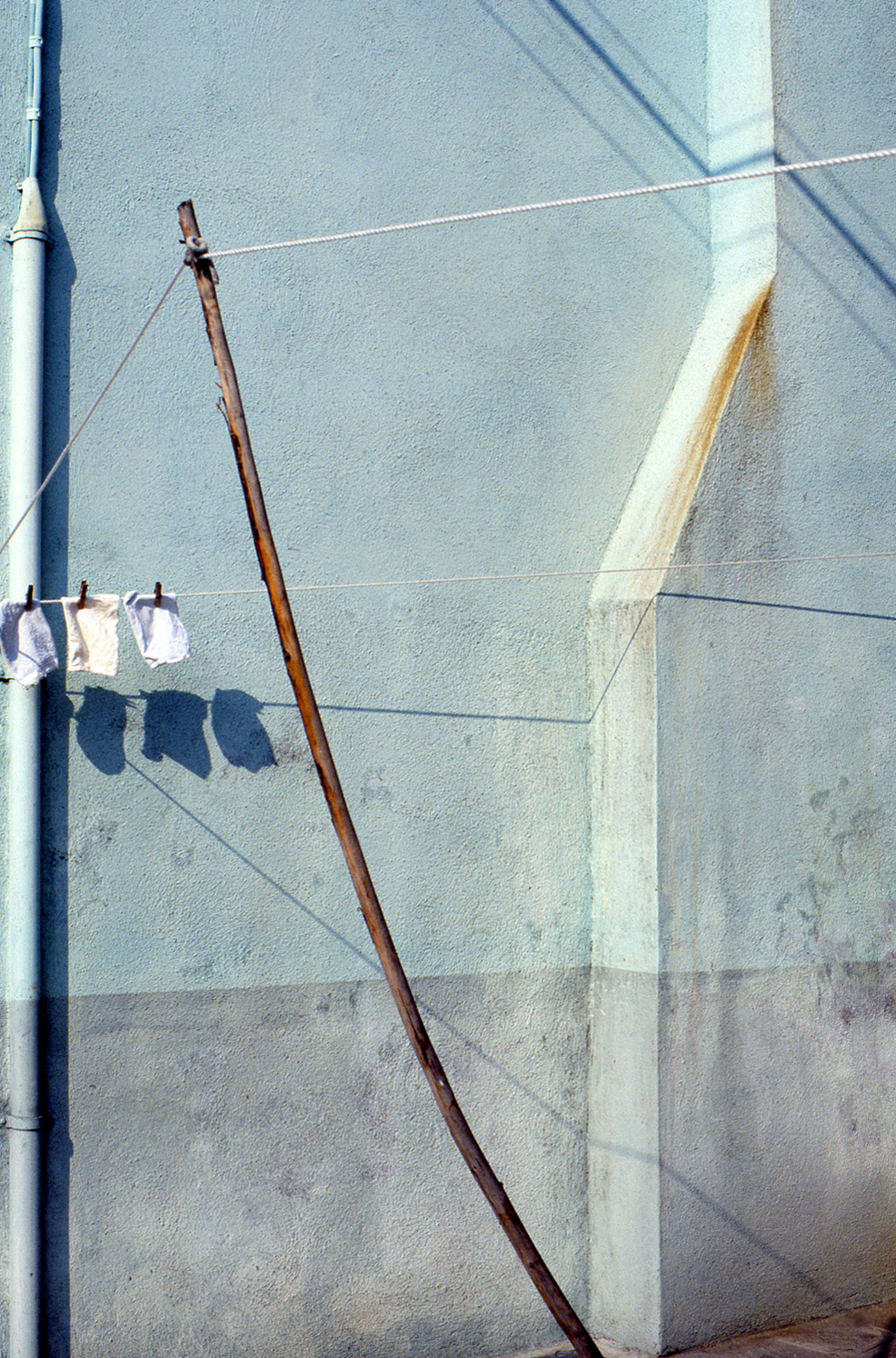 Clothesline, Burano Italy, 1978 , Cibachrome Print, 24 x 16cm, Edition of 10.                            Exhibition:  Burano Colour Works , Australian Centre for Photography, Sydney; Solander Gallery, Canberra; Wagga Wagga City Art Gallery, Wagga Wagga, 1979.