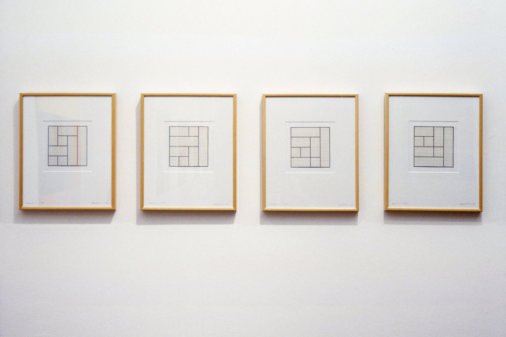 Terminus  series, 1969, Pencil and tape on Arches paper, 43 x 35cm each.