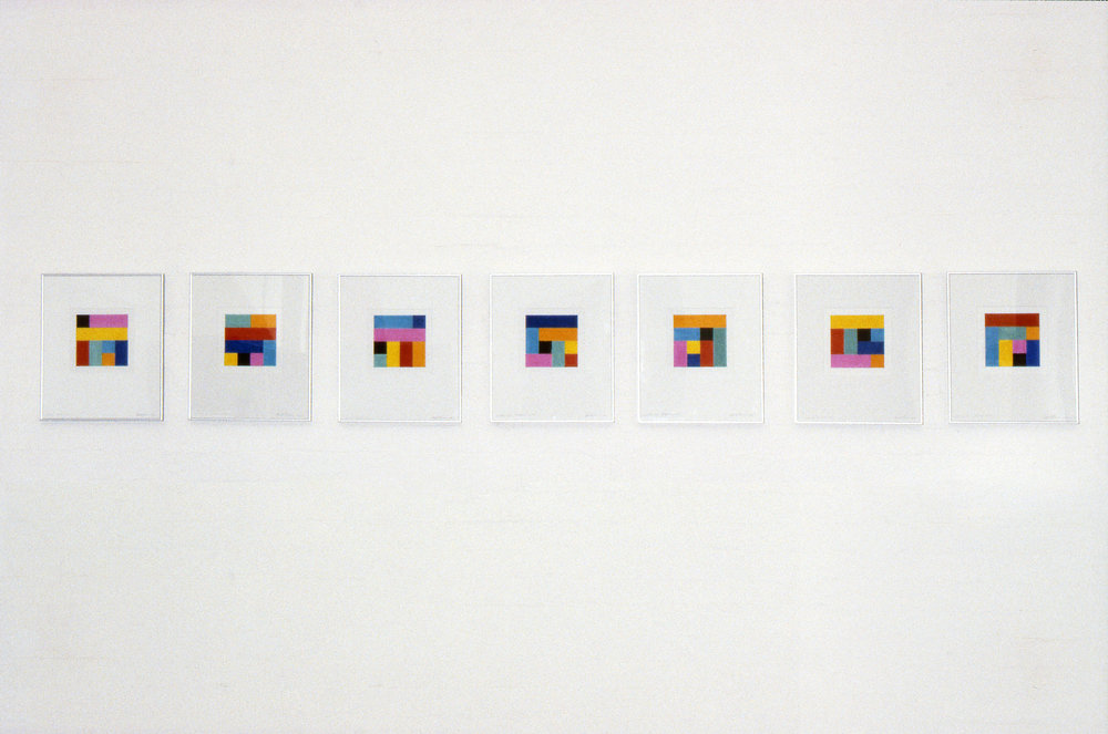 Studies for Origami,  1992, from the series  Notes to Myself , Collage - Origami paper and pencil on Arches paper.