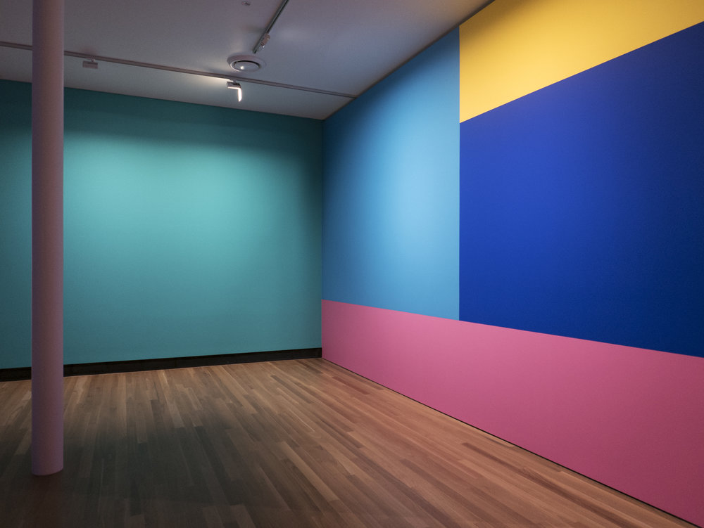 Afterglow , 2017/2018 Colour Installation Acrylic on Wall Latrobe Regional Gallery,  Morwell