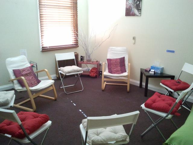 Relative Therapies, the tiny little room where I did my first 'class' with Anna.