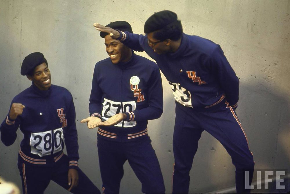 Summer-Olympics-1968.-Lee-Evans-C-Larry-James-L-and-Ronald-Freeman-R-after-their-victory-for-the-400-meter-race.jpg