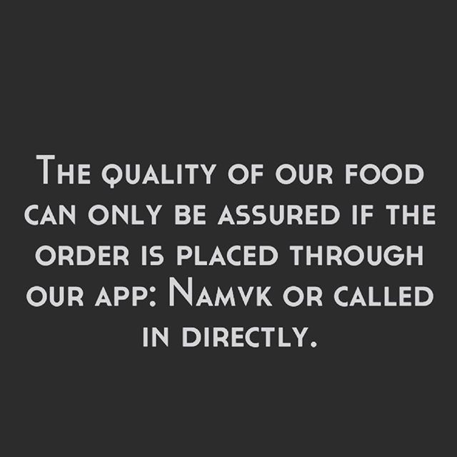 To our loyal customers: please know that we are not affiliated with any 3rd party delivery companies. Quality control of our food is extremely important to us and we can only guarantee this if orders are placed through our app: namvk or called into our locations directly. Thank you for your continued support! #yyceats #yycfood #namvk