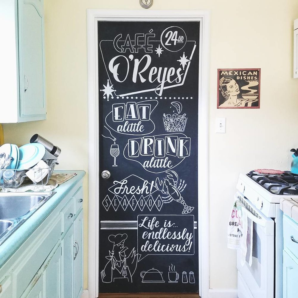 Cafe O'Reyes - Kitchen Door Makeover