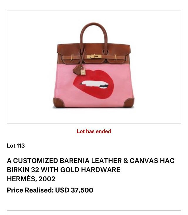 When one of your #unique #handbags ends in the Top Ten Of the #christiesauctionhouse Winter #handbag #auction. #hermes #hermesbag