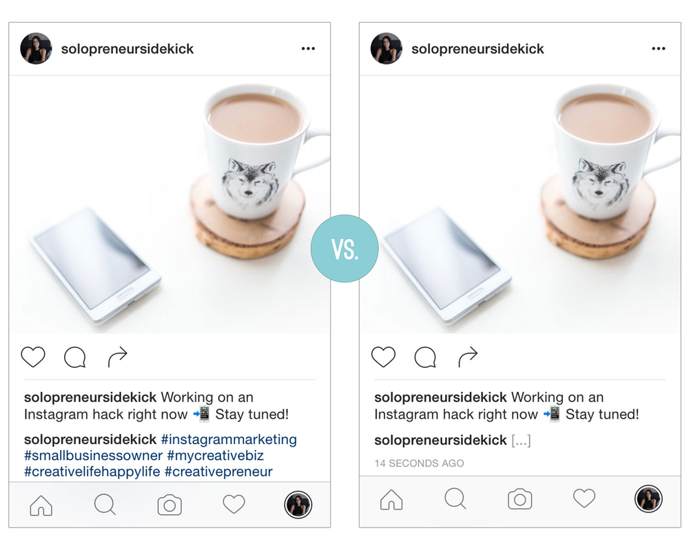 Quick Tip: How to Clean Up Your Instagram by Solopreneur Sidekick solopreneursidekick.com Hide your Instagram hashtags with this simple hack!