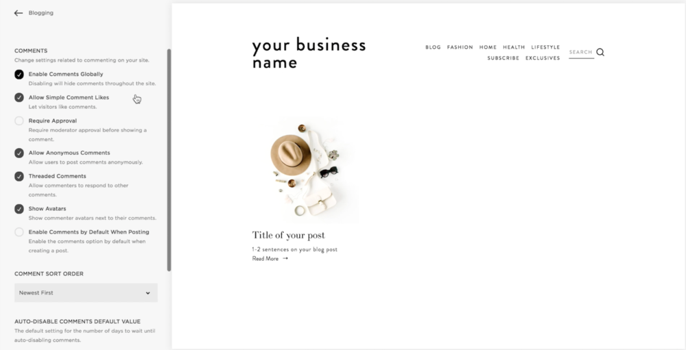 How to enable comments on your Squarespace blog