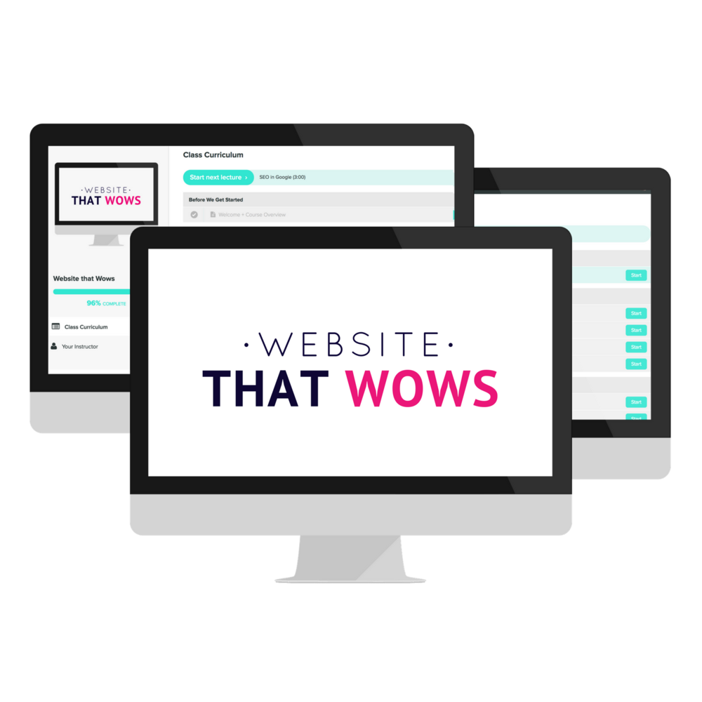 Website That wows | course mockup