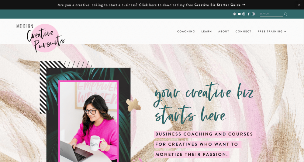 Squarespace Website Examples 1 Modern Creative Pursuits