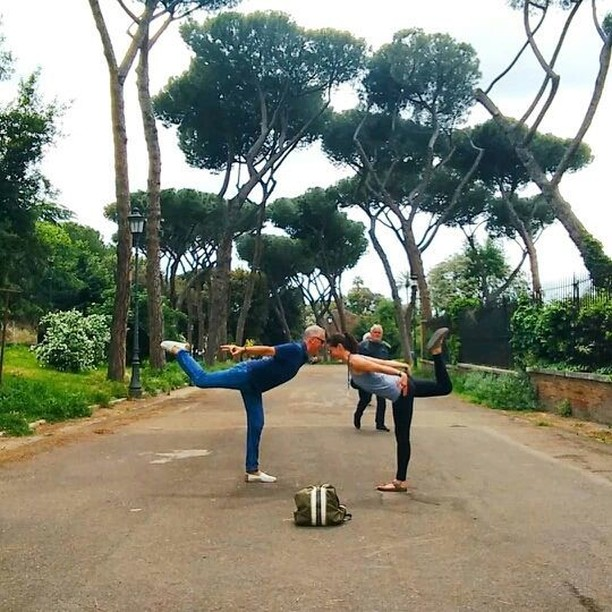 Spring has sprung in Rome with the @Yogamamondo Backpack. Photo: @Letizia_yoga