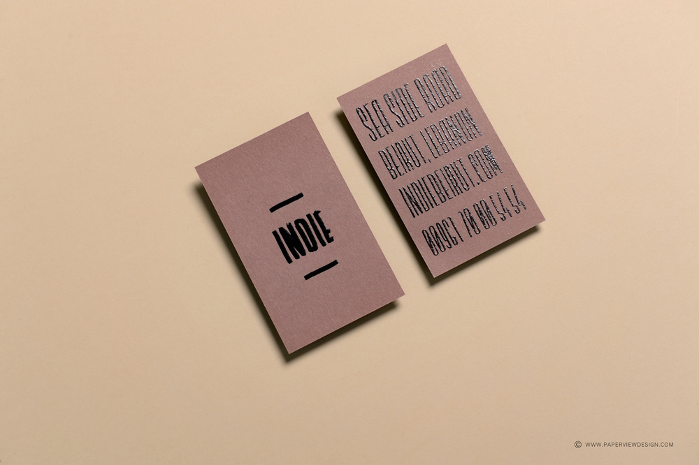 Indie beirutdubai is paperview design branding agency indie beirut dubai business card reheart Choice Image
