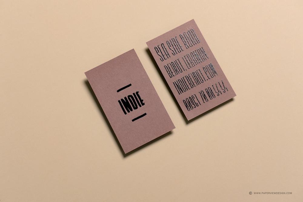 Indie Beirut -Dubai Business Card