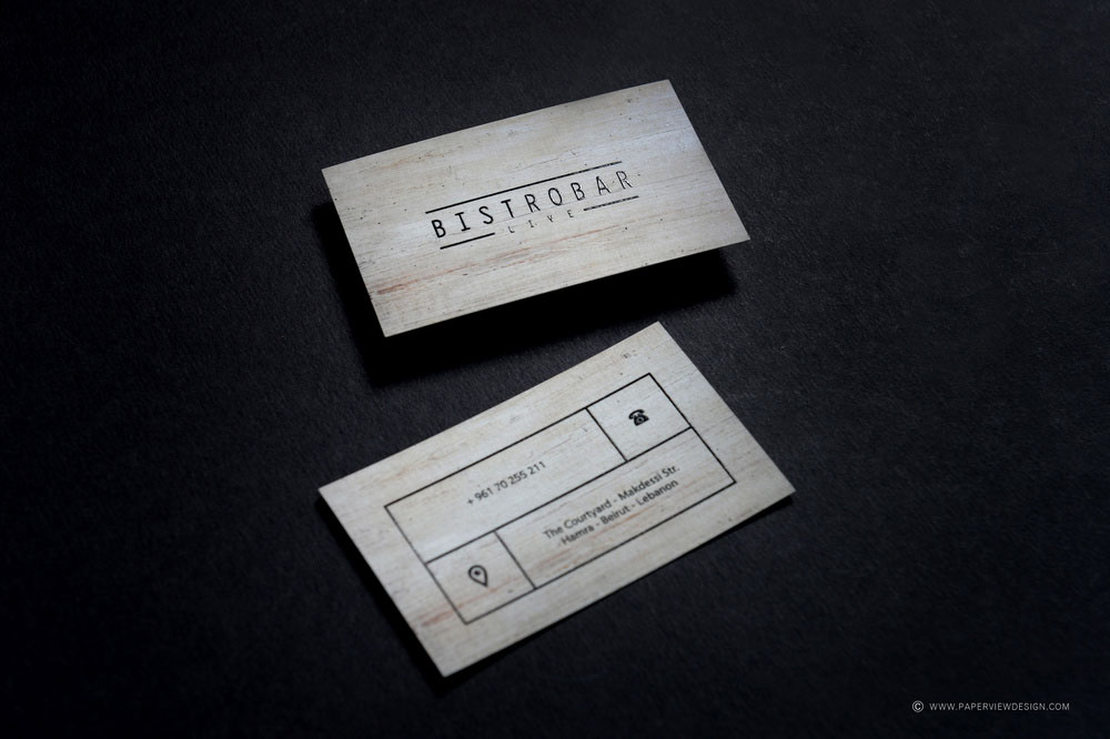 Bistrobar Beirut Business Card