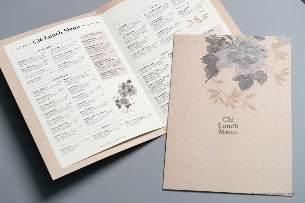 Cle Bar Beirut Menu Inside Pages and Cover