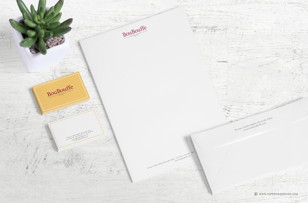 Boubouffe Lebanese Brasserie Letterhead and Business card