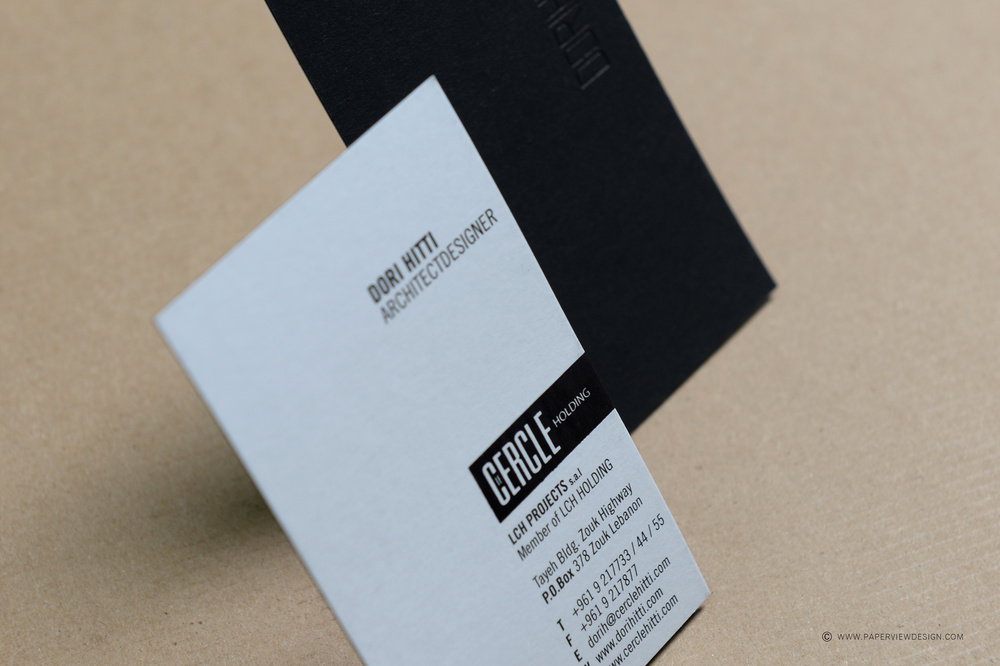 Dori Hitti Architect Designer Branding Business Card