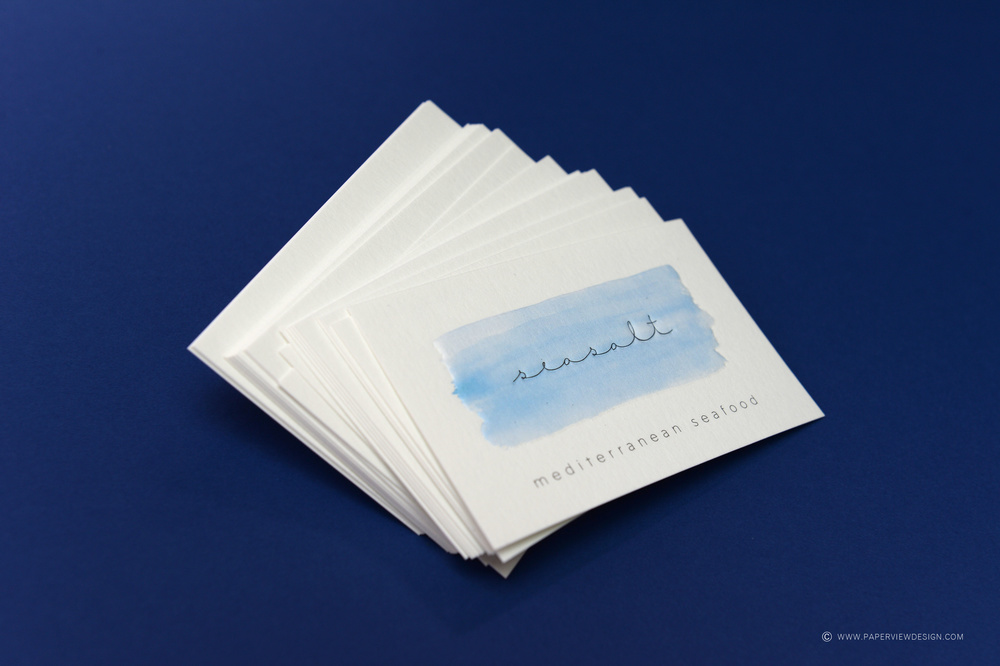 Seasalt Beirut Business Card Embossed Logo