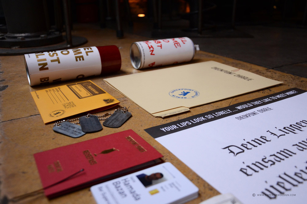 Checkpoint Charlie Beirut Pub Branding Stationary Side View