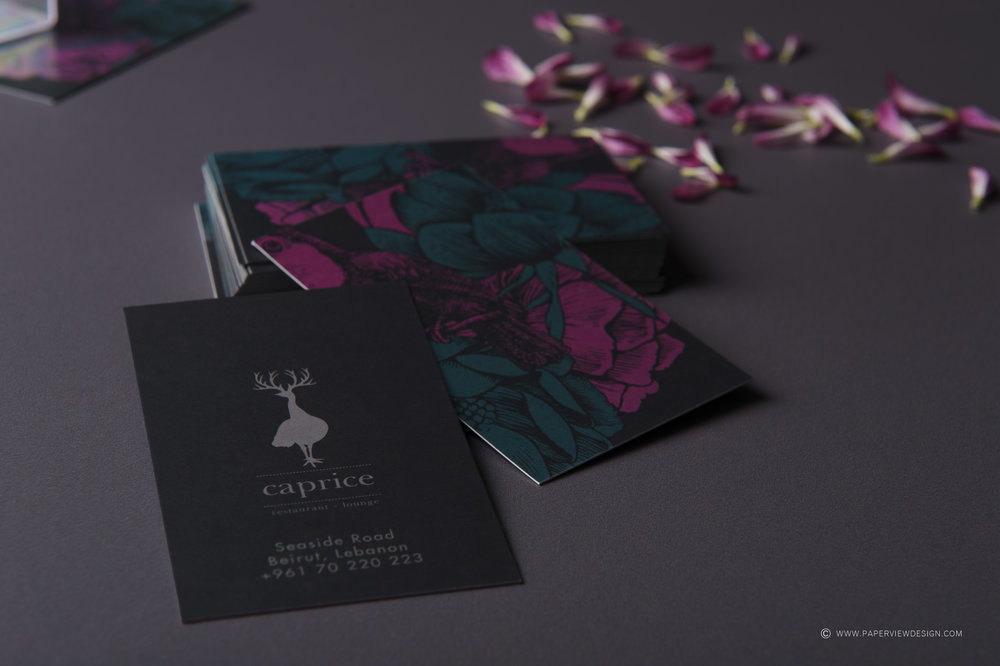 Caprice-Identity-Restaurant-Business-Cards