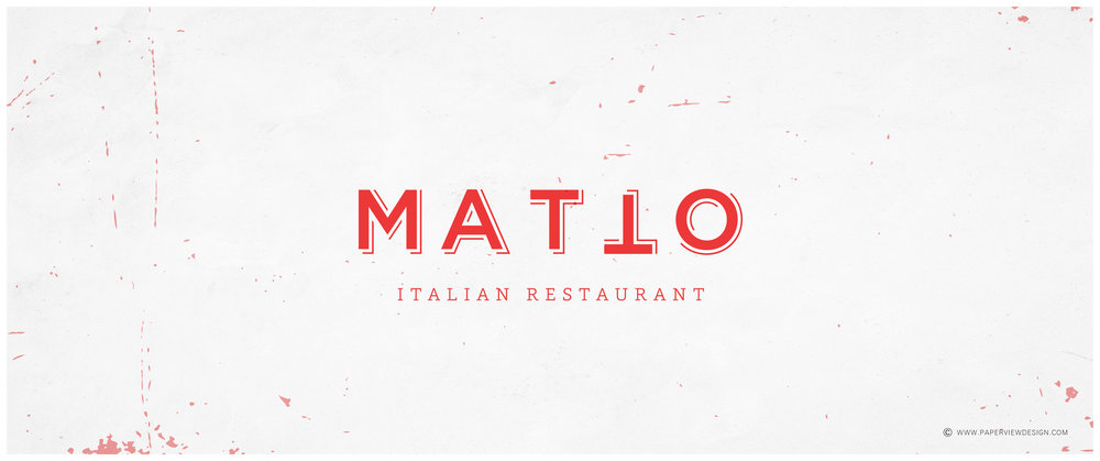 Logo-Red-Design-Texture-Concrete-Matto-Italian-Cuisine-Kitchen-Restaurant