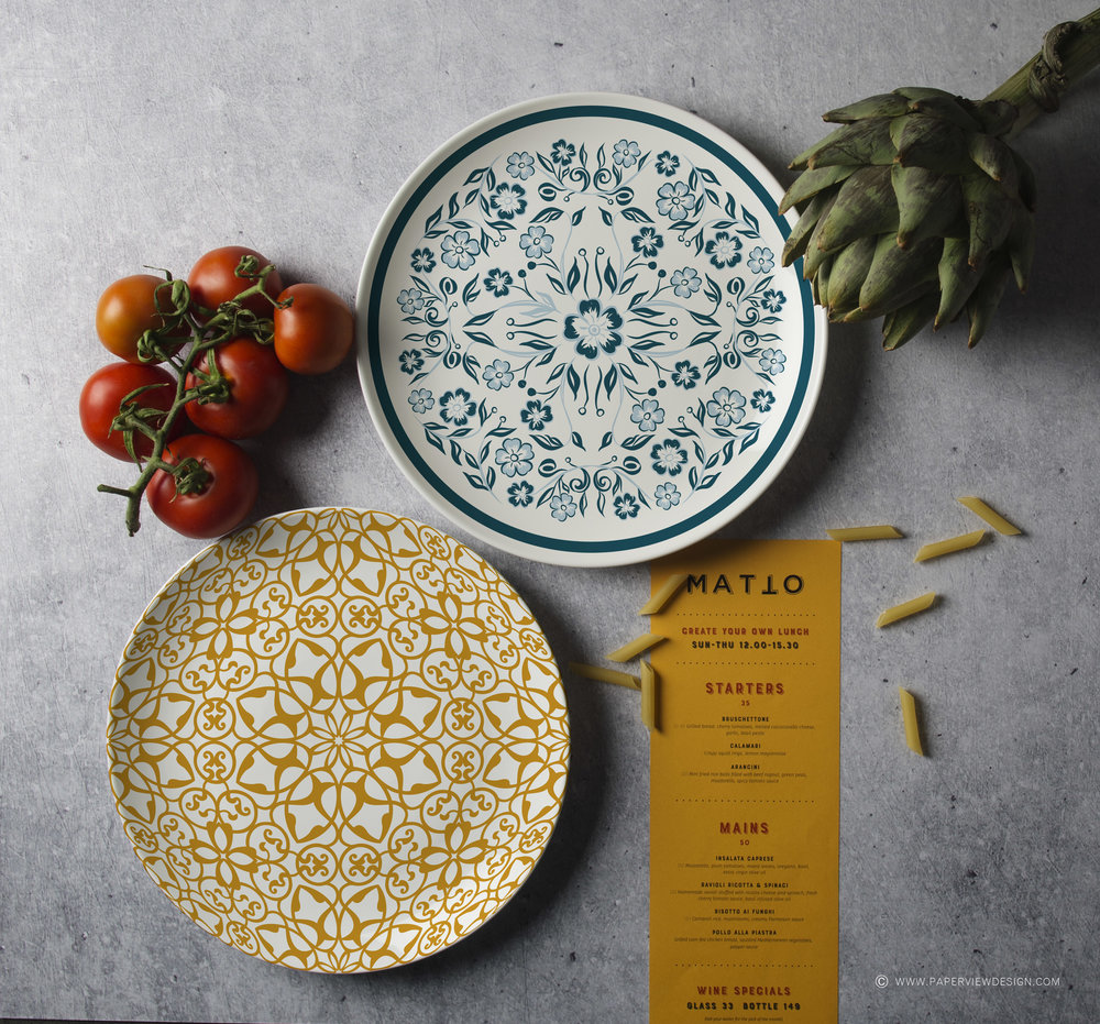 Plates-Desing-Mood-Colors-Pasta-Yellow-Concrete-Textures